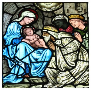 Nativity window at Middleton Cheney